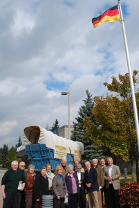 2012 German Pioneers' Day delegation to Markham Council outside the City Hall